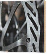 Silver Brake Wood Print by Angie Wingerd