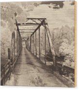 Silver Bridge Antique Wood Print