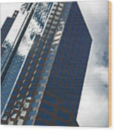 Silver Building Wood Print