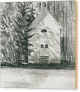 Silver City Church Wood Print
