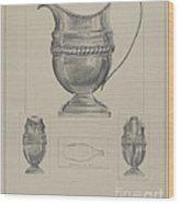 Silver Creamer Wood Print