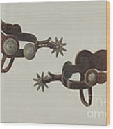 Silver Dollar Spurs Wood Print