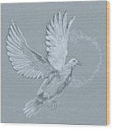 Silver Dove Wood Print