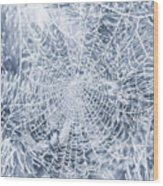 Silver Filigree Wood Print