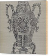 Silver Hot Water Urn Wood Print