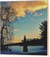 Silver Lake Sundown Wood Print