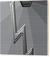 Silver Lightning Wood Print