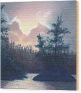 Silver Lining Wood Print