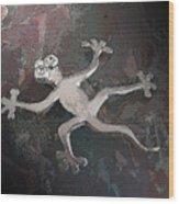 Silver Lizard Wood Print