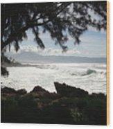 Hawaiian Silver Ocean Wood Print