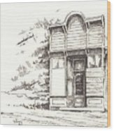 Silver Plume Ghost Town Colorado Wood Print