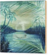 Silver Pond  Wood Print