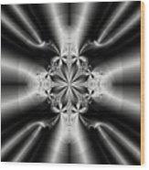 Silver Rays 2 Wood Print