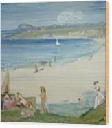 Silver Sands Wood Print
