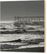 Silver Sea 1 Wood Print