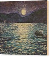 Silver Sea Wood Print