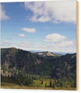 Silver Star Mountain Top Wood Print