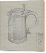 Silver Tankard Wood Print