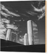 Silver Towers Wood Print