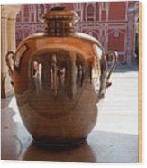 Silver Water Urn Jaipur Wood Print