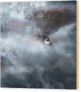 Silver Wolf Wood Print