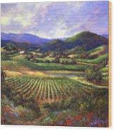 Silverado Valley Blooms Wood Print