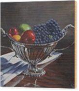 Silvered Fruit Wood Print