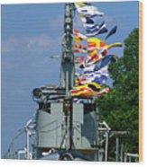 Silversides Flags Wood Print