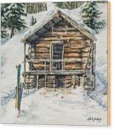 Silvertip Lodge Wood Print