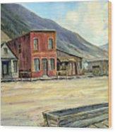 Silverton Colorado Wood Print by Evelyne Boynton Grierson