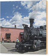Silverton Durango Steam Train - Silverton Colorado Wood Print
