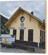 Silverton Train Depot Wood Print