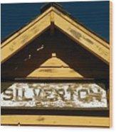 Silverton Train Station Wood Print