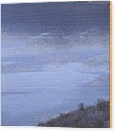 Silverwood Lake In Blue Overcast Wood Print