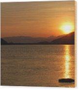 Silverwood Sunrise Wood Print