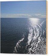 Silvery Ocean Wood Print