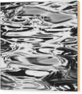 Silvery Water Ripples Wood Print
