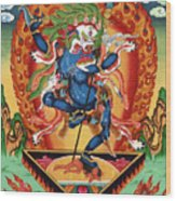 Simhamukha - Lion Face Dakini Wood Print