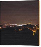 Simi Valley At Night Wood Print