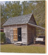 Simmons Cabin Built In 1873 In Orange County Florida Wood Print