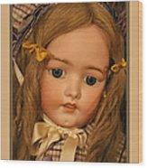 Simon And Halbig Antique Doll Wood Print