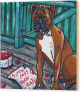 Simon Says Wood Print by Laura Brightwood