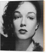 Simone Signoret, C. 1940s Wood Print by Everett