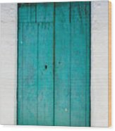 Simple Blue By Darian Day Wood Print