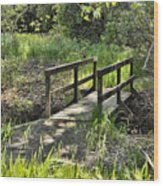 Simple Bridge Wood Print