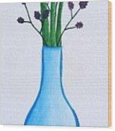 Simple Flowers Wood Print