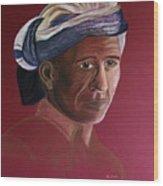 Simple Life - Pastel Portrait Painting  Wood Print