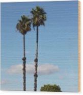 Simple Palms Wood Print