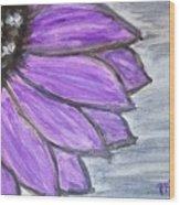 Simple Purple  Wood Print