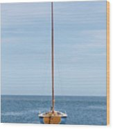 Simple Sailboat  Wood Print